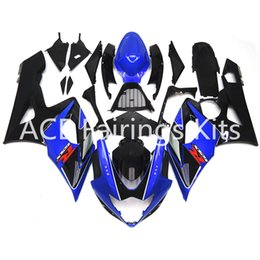 Wholesale Gsxr Motorcycle Fairing Kit - 3 free gifts New Suzuki GSXR1000 GSXR 1000 K5 2005 2006 05 06 ABS Motorcycle Fairing Kit Black and Blue style