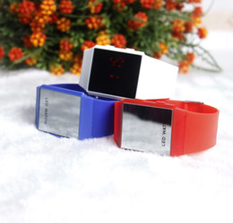 Wholesale Thin Purple Square Watch - The new LED ultra-thin electronic watches silicone Sports Fashion Square watch children watch 2017 students