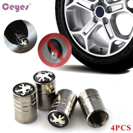 Wholesale peugeot wheel caps - Car Wheel Tire Valves Tyre Stem Air Caps Cover For Peugeot Fit for all cars Car Styling 4pcs lot