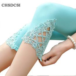 Wholesale Hot Cotton Capris - 2017 Hot Women's Candy Color Stretchy Elasticity Cropped Leggings Modal cotton Shorts Pants 6 colors