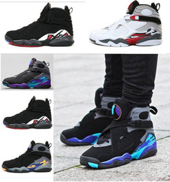 Wholesale Air Aqua - 2017 Air retro 8 VIII men basketball shoes Aqua black purple Chrome Playoff red Three Peat 2013 RELEASE Athletic sports sneakers size 41-47
