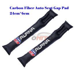 Wholesale E39 Seats - 2Pcs Carbon Fiber For ALPINA logo Seat Gaps Plug Crevice Inserts Protective Padding forX3 X5 F10 F30 F31 E39 E46Auto Accessories
