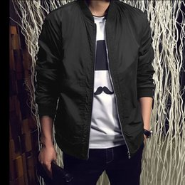 Wholesale Wholesale High Fashion Men Clothing - Wholesale- 2017 High Quality Spring Jacket Men`s Solid Fashion Casual Jacket Stand Collar Coats Slim Outdoors Men's Male Clothes Overcoat