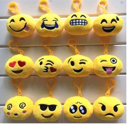 sacs d'émotion Promotion QQ emoji en peluche pendentif Emoji Smiley Emotion Jaune QQ Expression Peluche en peluche jouet pour Mobile sac pendentif XT