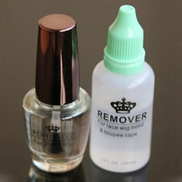 Wholesale Hair Adhesives - Waterproof professional hair glue adhesive for lace WIG ADHESIVE GLUE BY WALKER TAPE 0.5 OZ with glue remover