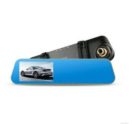 Wholesale Distance Sensor Cars - 4.3 Car DVR Camera Dual Lens with LDWS ADAS Rear view Support Front Car Distance warning Full HD 1080P car dvrs Portable Recorder