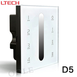 Wholesale D5 Led - New Touch Led DMX512 Dimmer Controller 12-24v 86 Glass Panel DMX512 Multi 4 Zone Dimming Dimmer D5 Free Shipping