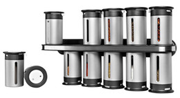 Wholesale Mounted Spice Rack - 12 Canister Set Wall Mount Magnetic Spice Rack Magnetic Spice Stand