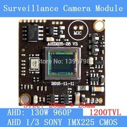 """Wholesale Ccd Pcb Camera - AHD 960P 1200TVL1.3MP board camera module cctv camera PCB, 1 3 """"SONY IMX225 color camera plate, Low 0.001lux, 28 * 28mm"""