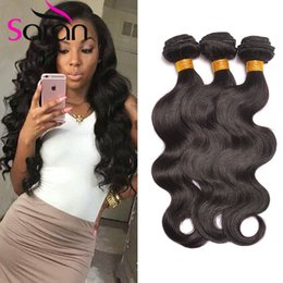 Wholesale hair products girls - Hot Beauty Hair Products 7A Indian Virgin Remy Hair Body Wave 3pcs Lot One Donor Young Girl Human Hair Free Shipping