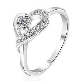 Wholesale Heart Gemstones - hot sale The heart belongs sterling silver finger ring fit women,wedding white gemstone 925 silver rings Solitaire Ring Wedding Rings ER150