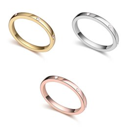 Wholesale Gold Ring Austria - Rings Fashion Jewelry Brief High Quality Austria Crystal 18K Gold Plated Alloy Circle Band Rings Wholesale Free Shipping TR073