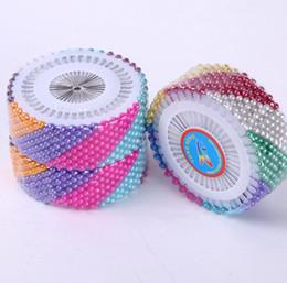 2019 pasadores de cabeza de costura 480 unids 32 cm Ronda 3mm Pearl Head Pins Corsage DIy Crafts punto de cruz ropa herramientas de costura pasadores de cabeza de costura baratos