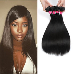Wholesale Cheap Best Hair Straighter - Cheap Virgin Straight Hair Brazilian Hair Extensions Virgin Human Hair Weave Bundles Factory Price 7A Best Quality Dyeable Natural Color