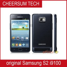 Samsung galaxy s2 teléfono celular online-Limitado desbloqueado desbloqueado Samsung original GALAXY S2 SII I9100 Android 2.3 Wi-Fi GPS 8.0MP cámara Core 4.3 '' teléfono celular