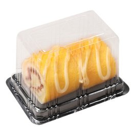 Wholesale Box For Mooncake - 500pcs Disposable Clear Plastic Transparent Cheese Cake Boxes Plastic Uptake Cake Box for Pastry Bakery Dessert
