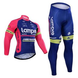 Wholesale Merida Pro Cycling - Pro team Lampre cycling jersey Maillot ciclismo Merida winter thermal fleece cycling clothing ropa ciclismo long sleeve bike clothing