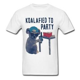 Wholesale Koala Shorts - 100% Cotton Fashion T Shirts Crew Neck Short-Sleeve Fashion 2017 Mens Koala Koalafied To Party Tees