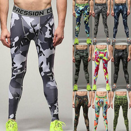 Wholesale Tight Fitting Clothing - New Arrivals Men Running Compression Tights Pants Elastic Clothes Tight-fitting Sports Trousers Marathon Fitness Jogging Pants Plus size