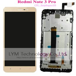 Wholesale Screen For Note3 - Wholesale- Black White Gold LCD+TP+Frame for Xiaomi Redmi Note3 Pro Note 3 Pro  Snapdragon 650 Replacement LCD Display+Touch Screen
