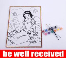 Wholesale Wholesale Graffiti Toys - Children DIY 30cm*40cm Sketchpad kindergarten children graffiti painting children hand drawn cartoon coloring words
