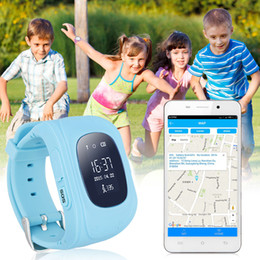 Wholesale Lbs Tracker - Cute Smart Watch Children Kids Baby Guard Wristwatch Q50 SIM GPRS GPS LBS Locator Tracker Anti-Lost SOS Call Smartwatch for Android Iphone 7