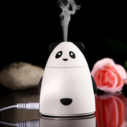 Wholesale Air Freshener For Office - Mini Cartoon Bear Design USB Humidifier Air Cleaner Purifier Freshener Mist Maker Fogger For Office Car Room Free Shipping