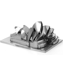 Wholesale Toy Wholesalers Sydney - Finger Rock 3D Metal Puzzles DIY Model Classical architectural model Children Jigsaws toys Present Gift Sydney Opera House Himeji Castle