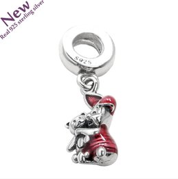 Wholesale Enamel Flower Charms For Diy - 2017 New Cerise Enamel Piglet & Teddy Bear Pendant Charms Beads For Jewelry Making Diy 925 Sterling Silver Fit Original Pandora Charm