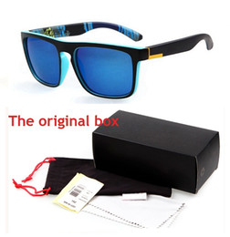 Wholesale Pink Blue Yellow Goggles - Hot 731 With original Box Australian Brand design sunglasses Quick Fashion silver eyewear oculos de sol Sun Glasses Innovative Items