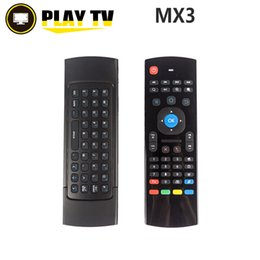 Wholesale Ir Qwerty Remote - 2.4GHz Remote Controller Wireless 3 in1 MX3 Air Mouse Fly Mouse QWERTY Keyboard Remote IR Learning for Android TV Computers