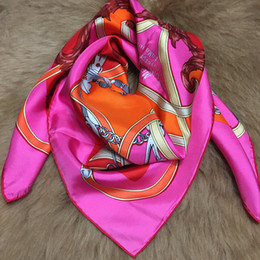 Wholesale Autumn Material - Brand New spring and autumn hot wolmen's 100% silk square scarf 90cm*90cm print the pattern design good material for lady