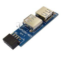 Pin header USB2.0 pin a Dual USB 2.0 Porta femmina sinistra e destra da lampada da tavolo animale fornitori