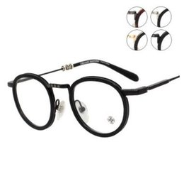 Wholesale Metal Hearts - Brand Glasses- JUCIFER II round glasses men Glass frames optical frame myopia super light vintage eyeglasses frame from G heart