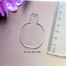 "Wholesale Clear Acrylic Ornament - Wholesale-(30pcs lot) 50mm Blank Clear Acrylic Perfumes Bottle Key Chain Gift Ornaments Laser Cut 2"" -AC1176B"