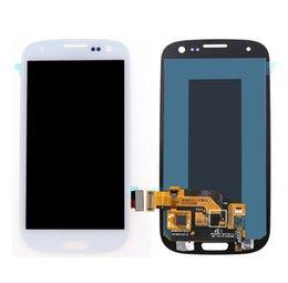 Wholesale Galaxy S3 Lcd I747 - New Grade AAA For Samsung Galaxy S3 lcd i9300 i747 i9305 i535 LCD Display Grade Black White DHL Free Shipping