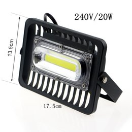 Wholesale Wall Fitting Lights - Wholesale- LED Flood Light Waterproof IP66 20W 30W 50W 240V LED FloodLight Spotlight Fit For Outdoor Wall Lamp Garden Projectors