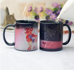 Nouvelle tasse de changement de couleur en céramique de la mode de la tasse douze constellations tasse de café tasse de couleur changeante tasses tasse de thé magique meilleur cadeau pour des amis ? partir de fabricateur