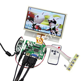 Wholesale Pi Touch Screen - Wholesale- 7 Inches Raspberry Pi LCD Touch Screen Display TFT Monitor with Touchscreen Kit HDMI VGA Input Driver Board