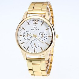 Wholesale Wholesale Diamond Watches Men - Xiniu Fashion Casual Luxury Watch Mens Gold Watches Diamond Dial Gold Steel Analog Quartz Wrist Watch Men Relogio Feminino Clock