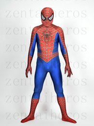 Wholesale Super Man Costume Party - 3D Printed Raimi Spider-man Costume Halloween Party Cosplay Spiderman Suit