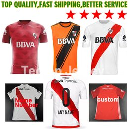 Wholesale Drier Plates - 17 18 River Plate soccer jersey TEO D,ALESSANDRO BALANTA CAVENAGHI VANGIONI 2017 argentina River Plate AWAY red Football shirt