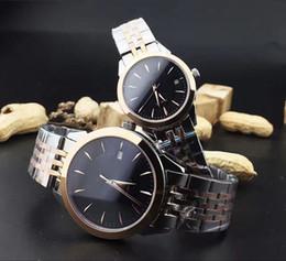 Relojes multipropósito online-Pareja de ocio de moda relojes espejo de zafiro resistente al desgaste minerales de movimiento de cuarzo multiuso gancho de correa de acero inoxidable BDFL