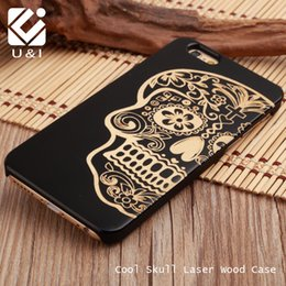 Wholesale Capa Mobile - Deluxe Art Wood U&I Cover for iPhone 5 5S 6 6S 6Plus 7 7Plus Plus Mobile Phone Capa Engrave Case Collection carving Coque