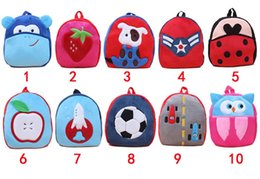 Wholesale Patchwork Books - 1 piece 27cm Children School Bags Lovely Cartoon Animals Backpacks Baby Plush Shoulder Bag Schoolbag Toddler Snacks Book Bags Kids Gift