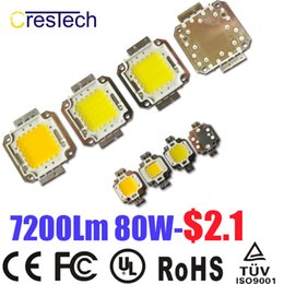 Wholesale Power Chips - Free Shipping 10pcs Epistar Chip High Power COB Chip LED 10W 20W 30W 50W 70W 80W 100W Warm White 2800-3200K On Stock