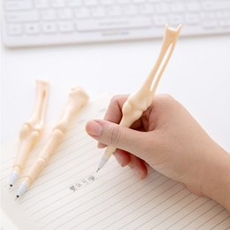 Wholesale Plastic Sign Wholesale - Korean creative funny bones pens for writing gel pens office writing pens signing stationary