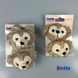 Wholesale Doll Hairpin Hair - Free shipping Duffy bear Dolls plush Stuffed Toys duffy shelliemay cute hair Hairpin pinch clips Lovely gift for Girls