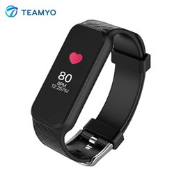Wholesale Tft Wrist Monitor - Wholesale- Teamyo Smart Band Wristband Dynamic Heart Rate Monitor Smart Watch Full Colorful TFT Screen Smartband for IOS Android