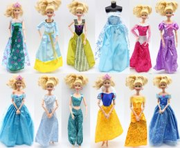 Wholesale Handmade Cloth Shoes - Mixed Handmade Barbie Dress Fashion Mini Doll Dress Shoes for Barbie Dolls Party Slim Dress Clothing Accessories